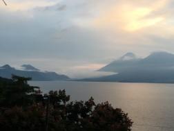 Sunset over Lake Atitlan
