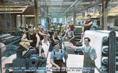 Historic Picture of Mill Workers, Portland Press Herald Article February 28, 1999