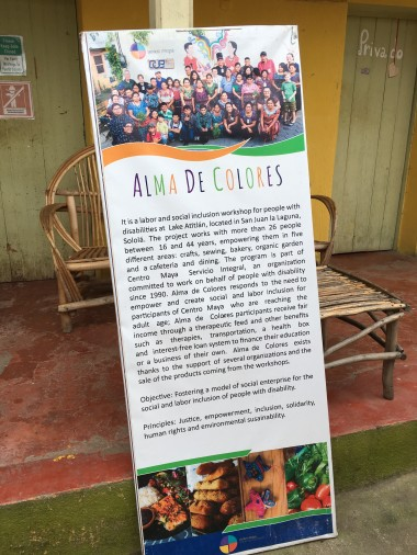 Posters about Alma de Colores at their cafe