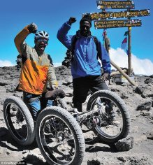 Chris and Tajiri on top of Kili