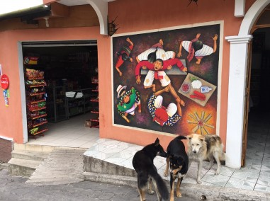Amazing Artwork in San Juan - and dogs