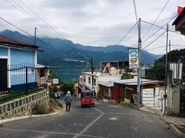 Main street in San Juan La Laguna