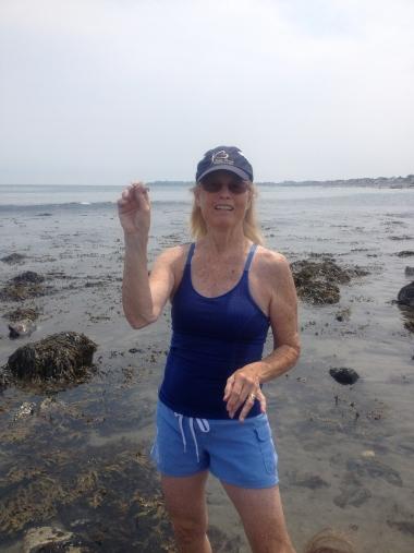 Nancy exploring the beach