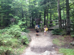 Hikers at Roaring Brook