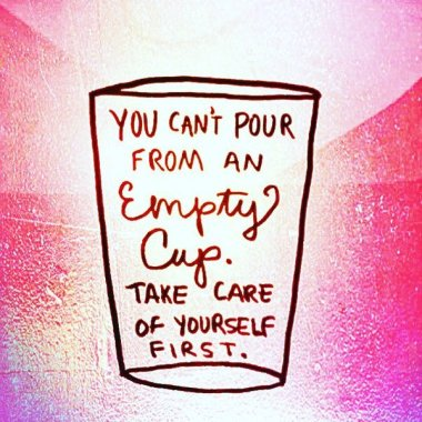 You cant pour from an empty cup
