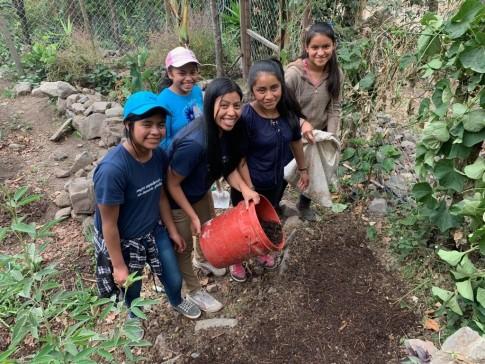 MAIA Students Gardening