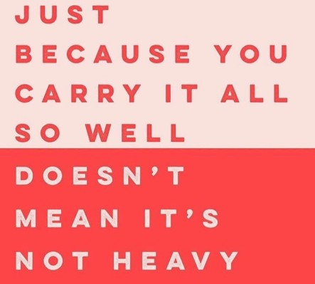 Just because you carry it well