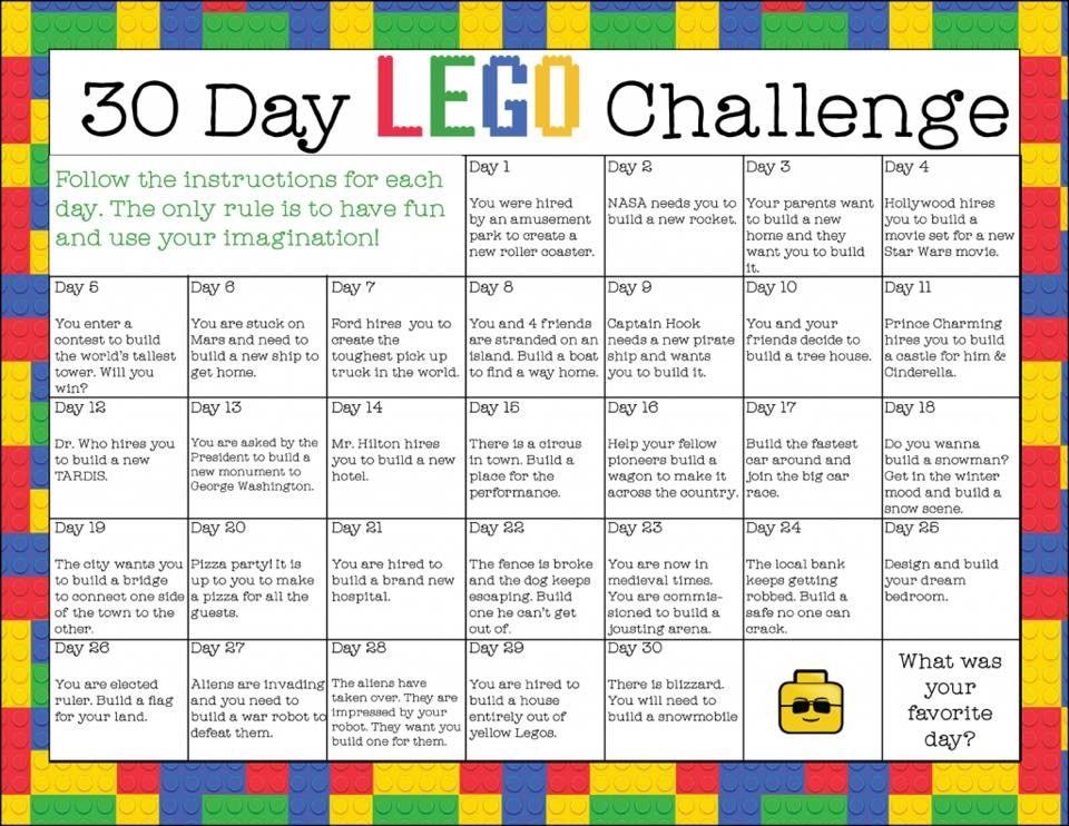 Lego 30 day challenge