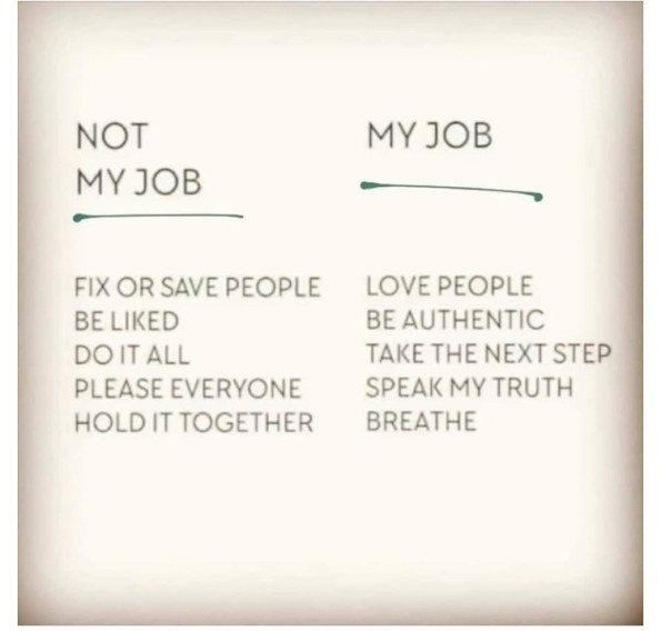 My Job vs not my job