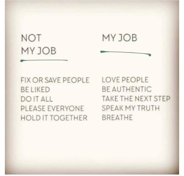 My Job vs not my job