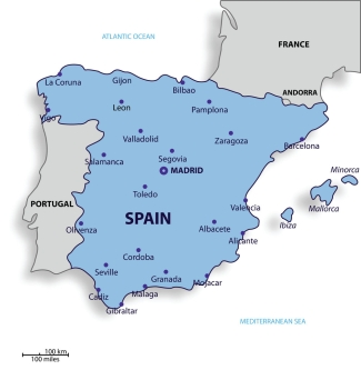 Simple Map of Spain