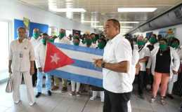 Cuban medical corps arriving in Jamaica, Photo from peridodico26.cu